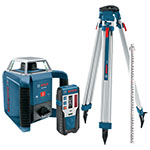 Bosch Self-Leveling Rotary Laser Complete Exterior Kit - GRL 400 HCK ES5152
