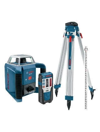 Bosch Self-Leveling Rotary Laser Complete Exterior Kit GRL400HCK ES5152