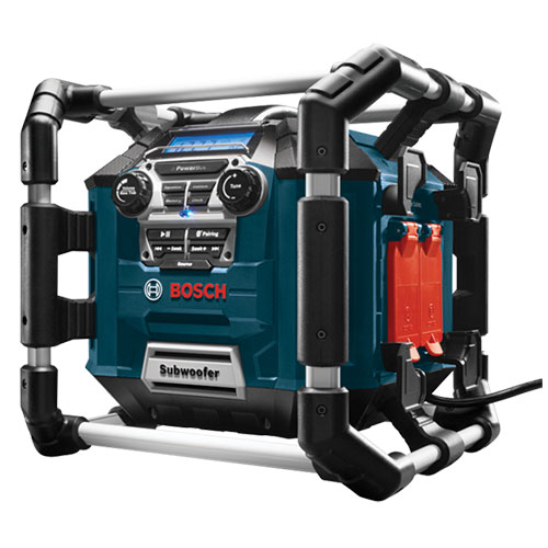 Bosch PB360C - Power Box Jobsite AM/FM Stereo  with 360 Degree Sound and Bluetooth Stereo