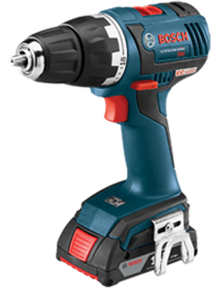 "Bosch 18V EC Brushless Compact Tough 1/2"" Drill/Driver Kit DDS182-02 ES5529"