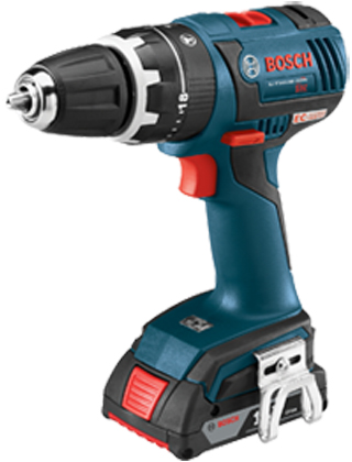 "Bosch 18V EC Brushless Compact Tough 1/2"" Hammer Drill/Driver Kit HDS182-02 ES5540"