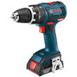 "Bosch 18V EC Brushless Compact Tough 1/2"" Hammer Drill/Driver Kit HDS182-02L ES5541"