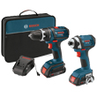 Bosch 18V 2-Tool Combo Kit (DDS181 and IDS181) CLPK234-181 ES5558
