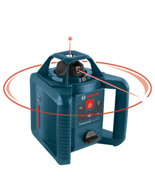 Bosch GRL245HVCK - 800 Foot Beam Self Leveling Rotary Laser Level ES5990