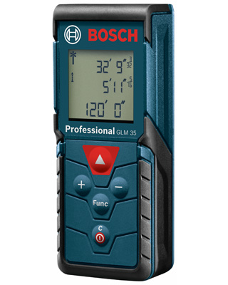 Bosch GLM 35 Digital Laser Distance Measuring Tool with 120 Foot Range ES5994