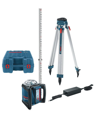 Bosch Self-Leveling Horizontal Slope Rotary Laser Level Complete Kit GRL500HCK ES6135
