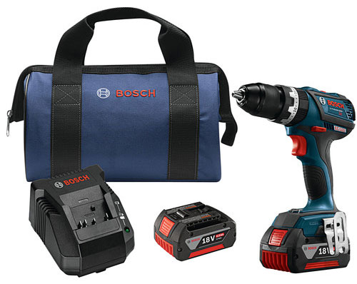 Bosch HDS183-01 - 18V 4.0 Ah Cordless Lithium-Ion EC Brushless Compact Tough 1/2 in. Hammer Drill Driver Kit