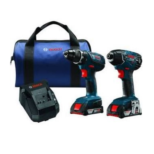 "Bosch CLPK232A-181 - 18V 2-Tool Combo Kit with Compact Tough 1/2"" Drill/Driver and 1/4"" Hex Impact Driver"