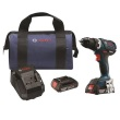 "Bosch DDS183-01 - 18V EC Brushless Compact Tough 1/2"" Drill/Driver Kit ES8191"