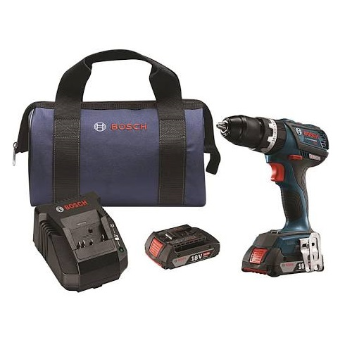 "Bosch HDS183-02 - 18V EC Brushless Compact Tough 1/2"" Hammer Drill/Driver Kit"