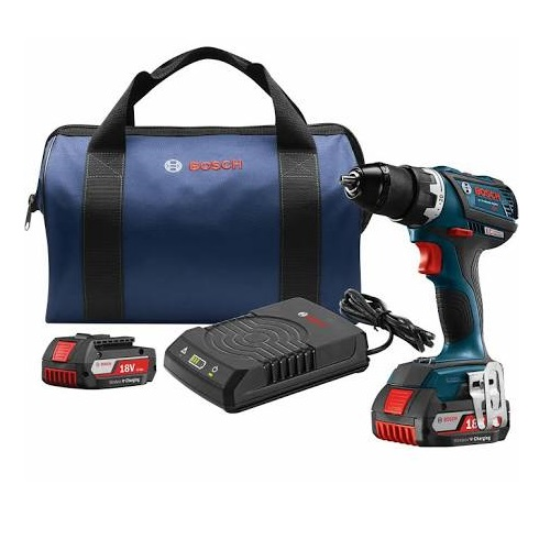 "Bosch DDS183WC-102 - 18V EC Brushless Compact Tough 1/2"" Drill/Driver Wireless Charging Kit"