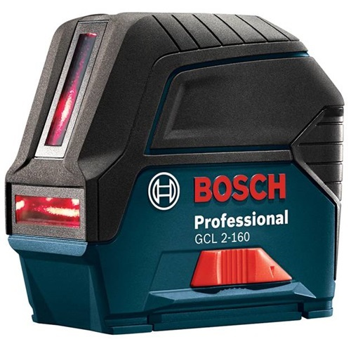 Bosch GCL 2-160 S - Self-Leveling Cross-Line Laser with Plumb Points
