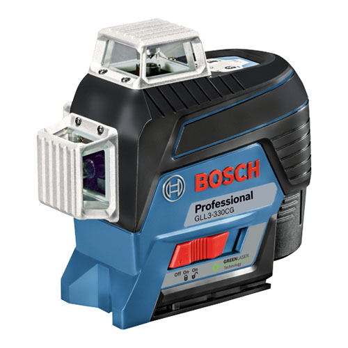 Bosch GLL3-330CG - 360 Degree Connected Green-Beam Three-Plane Leveling and Alignment-Line Laser