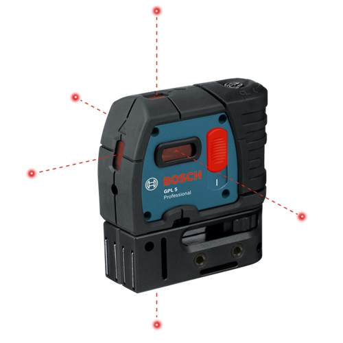 Bosch GPL 5 R - 5-Point Self-Leveling Alignment Laser