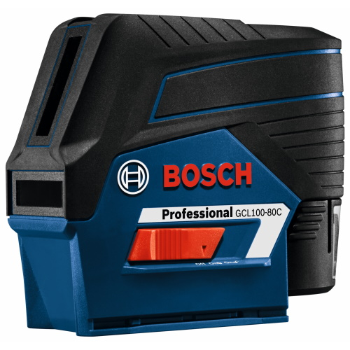 Bosch 12V Max Connected Cross-Line Laser with Plumb Points - GCL100-80C