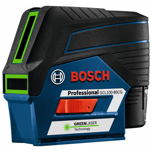 Bosch 12V Max Connected Green-Beam Cross-Line Laser with Plumb Points - GCL100-80CG