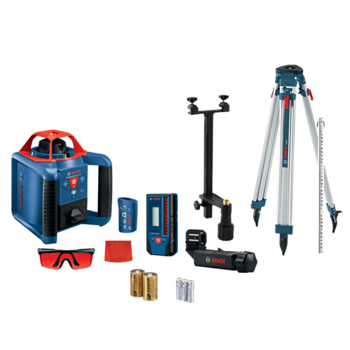 Bosch GRL900 Self-Leveling Horizontal and Vertical Rotary Laser Kit - GRL900-20HVK