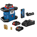 Bosch 18V REVOLVE4000 Connected Self-Leveling Horizontal Rotary Laser with CORE18V 4.0 Ah Compact Battery - GRL4000-80CH ET10728