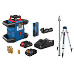 Bosch 18V REVOLVE4000 Connected Self-Leveling Horizontal Rotary Laser Kit with CORE18V 4.0 Ah Compact Battery - GRL4000-80CHK ET10729
