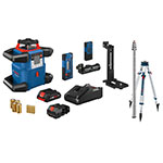 Bosch 18V REVOLVE4000 Connected Self-Leveling Horizontal and Vertical Rotary Laser Kit with CORE18V 4.0 Compact Battery - GRL4000-80CHVK ET10730