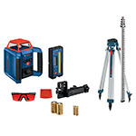 Bosch REVOLVE900 Self-Leveling Horizontal and Vertical Rotary Laser Kit - GRL900-20HVK ES9735