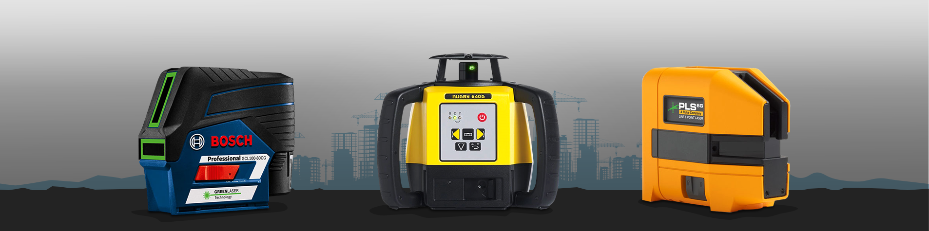 Construction Lasers, Laser Levels, Rotary Lasers, Smart