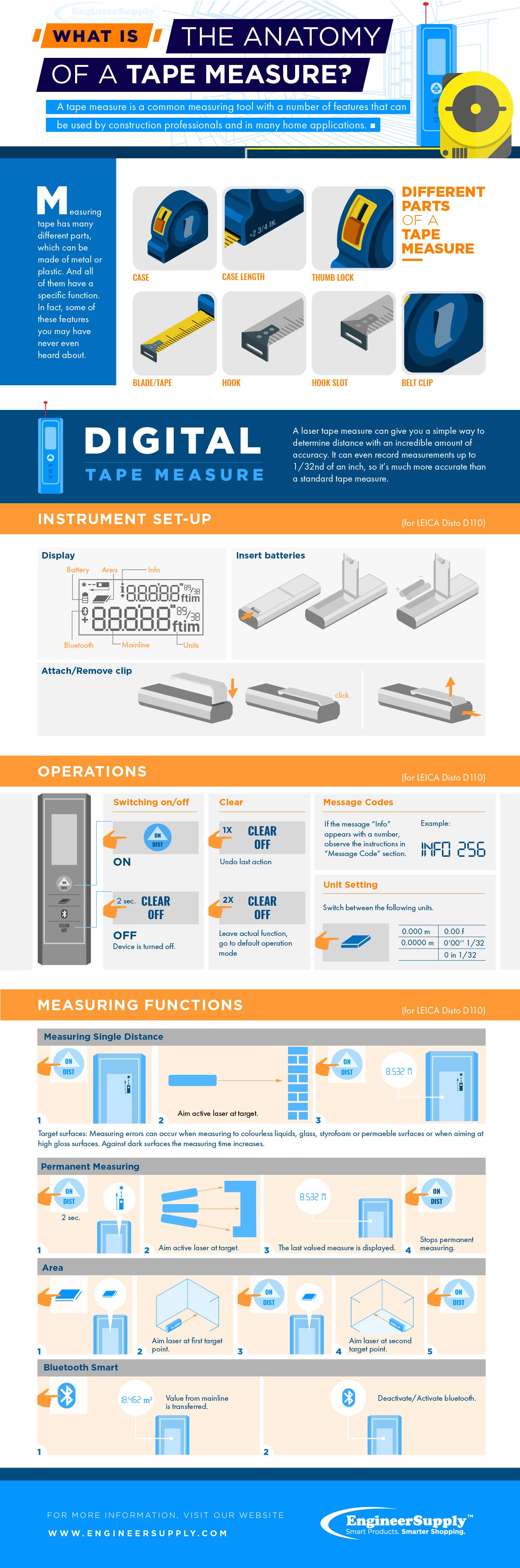 Magnetic Equipment Rack Space Measuring Tape