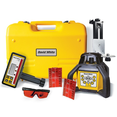 David White 48-LR520HV - HI-Power Rotary Laser with Layout Beams