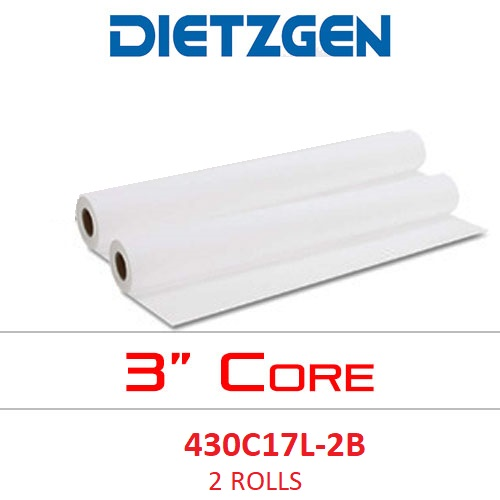 "Dietzgen Laser Printer & Copier Bond Paper, 20 lb, 17"" x 500' (2-Roll Carton) 430C17L-2B ES1139"