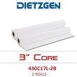 "Dietzgen Laser Printer & Copier Bond Paper, 20 lb, 17"" x 500' (4 Rolls) 430C17L"