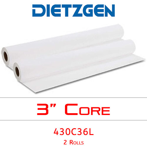 "Dietzgen Laser Printer & Copier Bond Paper, 20 lb, 36"" x 500' (2 Rolls) 430C36L"