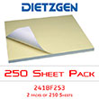 "Dietzgen Diazo/Blueline Fast Speed Paper, 22"" x 34"" (2 Packs of 250 Sheets) 241BF253 ES1219"