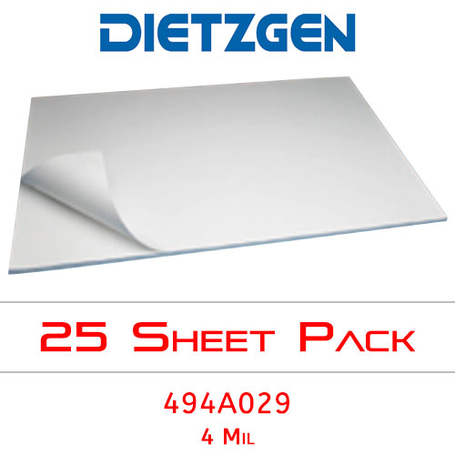 Dietzgen Laser Printer & Copier Double Matte Erasable Film, 4 mil, 30 x 42 (25 Sheets) 494A029