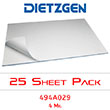 "Dietzgen Laser Printer & Copier Double Matte Erasable Film, 4 mil, 30"" x 42"" (25-Sheet Pack) 494A029 ES2453"