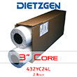 "Dietzgen Laser Printer & Copier Yellow Tint Bond Paper, 20 lb, 24"" x 500' (2-Roll Carton) 432YC24L ES4288"