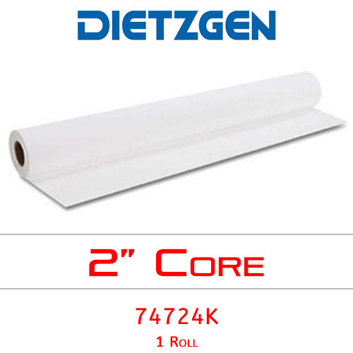 "Dietzgen Inkjet Coated Bond Paper, 46 lb, 24"" x 100' (1 Roll) 74724K"