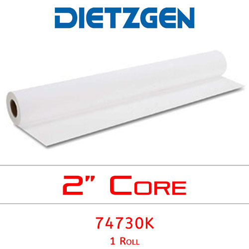 "Dietzgen Inkjet Coated Bond Paper, 46 lb, 30"" x 100' (1 Roll) 74730K"