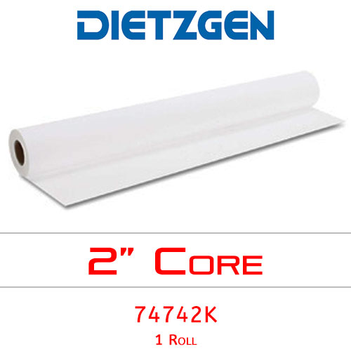 "Dietzgen Inkjet Coated Bond Paper, 46 lb, 42"" x 100' (1 Roll) 74742K"