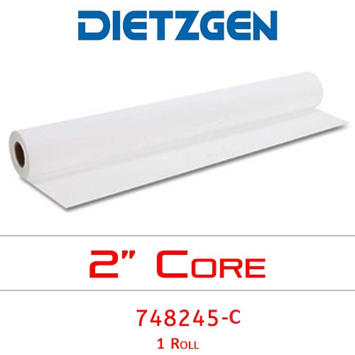 "Dietzgen Inkjet Coated Bond Paper, 28 lb, 24"" x 150' (1 Roll) 748245"