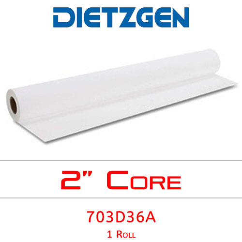 "Dietzgen Inkjet Double Matte Erasable Film, 3 mil, 36"" x 120' (1 Roll) 7923D36A"