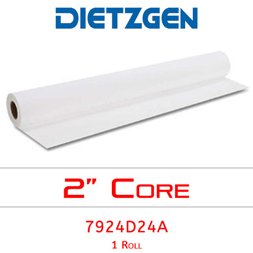 "Dietzgen Inkjet Double Matte Erasable Film, 4 mil, 24"" x 120' (1 Roll) 7924D24A"
