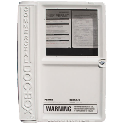 Commercial Doc-Box Permit Holder Box Model 10111