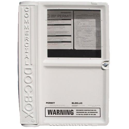 Commercial Doc Box Permit Holder Box Model 10111 Building