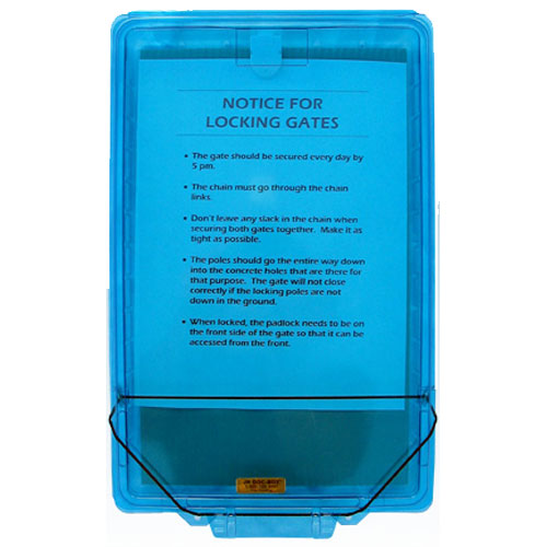 Junior Doc Box Permit Holder Box Model 10201 Contractors