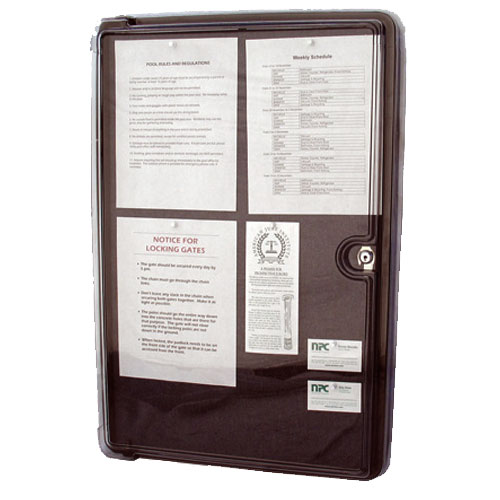 DOC-BOX All-Weather Bulletin Board Model 20001