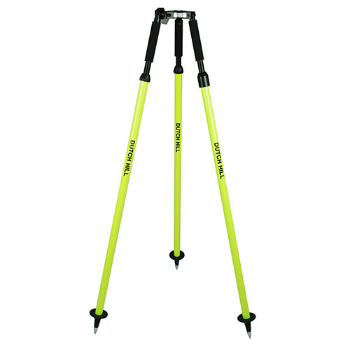 Dutch Hill DH04-002 - Aluminum Prism Pole Tripod - Fluorescent Yellow
