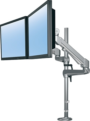 "ESI Edge Series 28"" Pole-Mounted Dual Monitor Arm EDGE2-28"