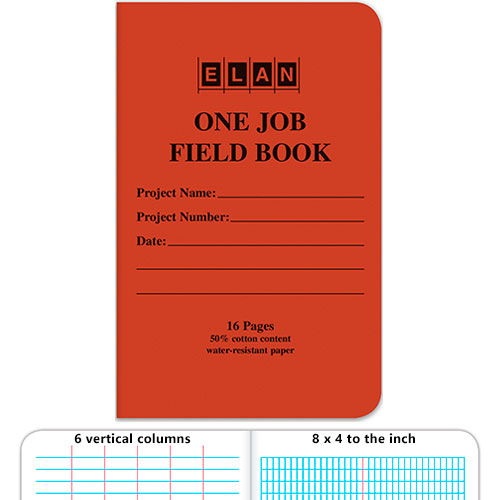 Elan One Job Field Book ES1888