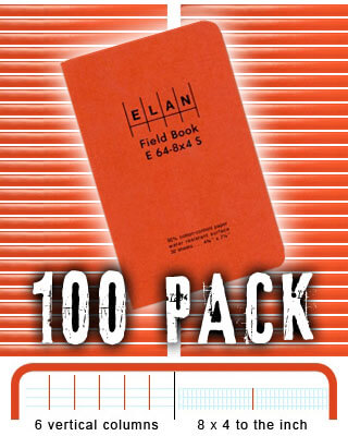 Elan Economy Field Book E64-8x4S - 100 PACK BUNDLE