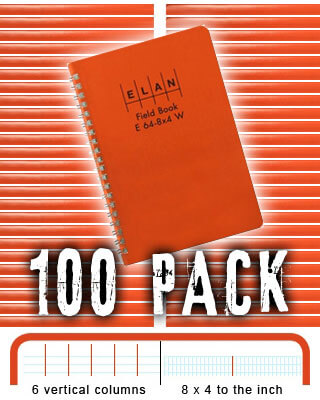 Elan Economy Field Book E64-8x4W - 100 PACK BUNDLE